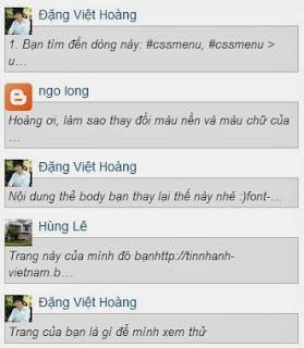 Hộp nhận xét mới có avatar đơn giản cho blogspot