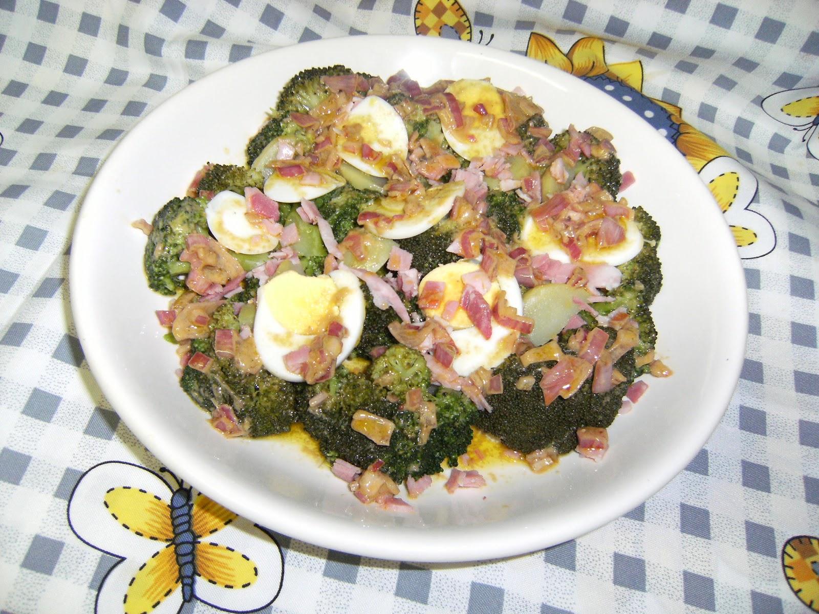 Les recettes chouettes de sissi brocolis avec ses oeufs durs en salade - Recette avec des oeufs durs ...