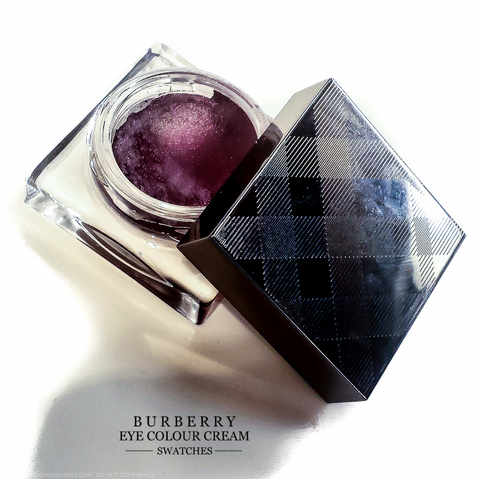 Burberry Beauty Makeup Eye Colour Cream Eyeshadows - Swatches - 102 Mink 110 Damson 104 Dusty Pink 114 Charcoal 100 Gold Copper 108 Dusky Mauve 106 Pink Heather 112 Pearl Grey
