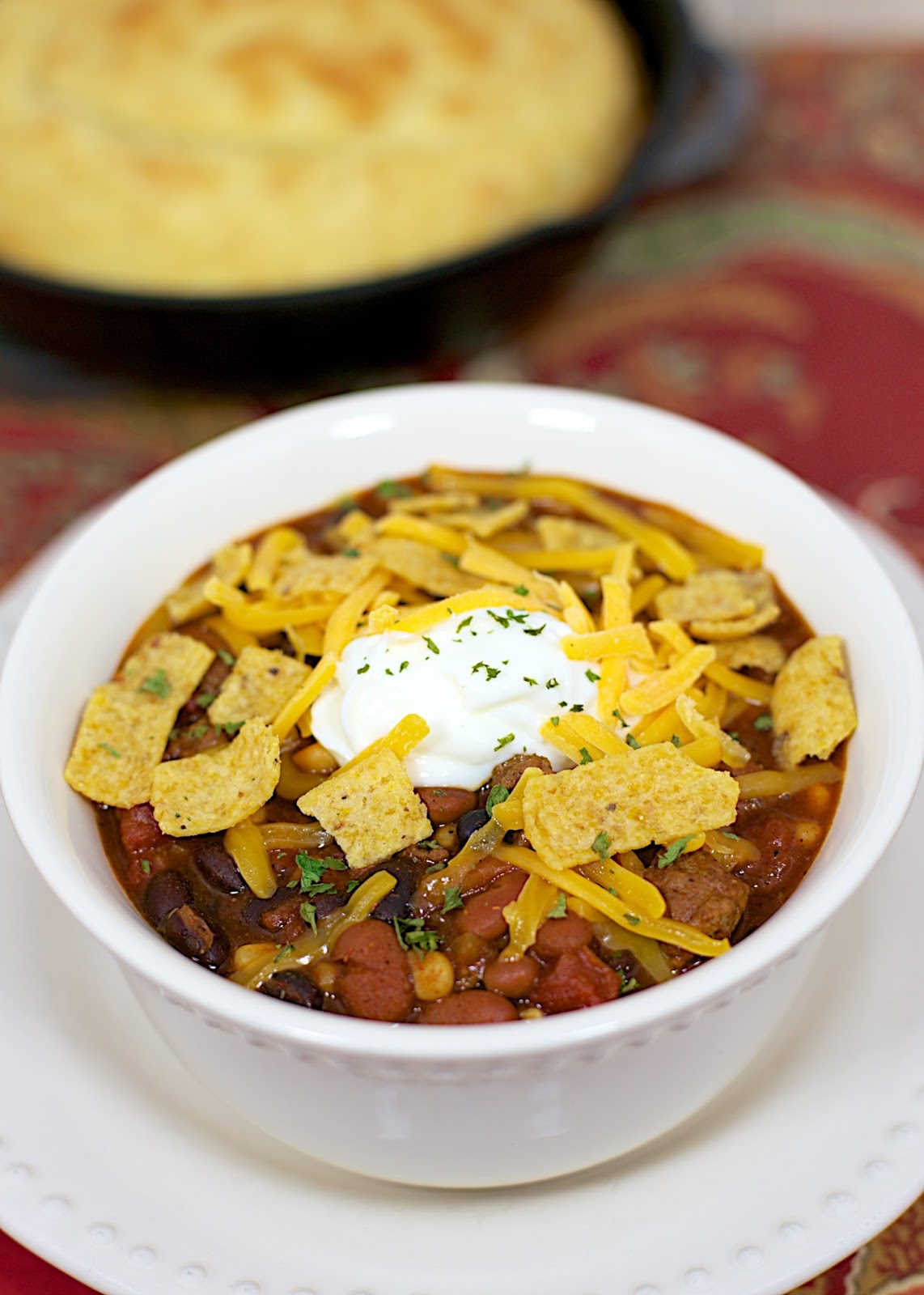 Slow Cooker Taco Chili | Plain Chicken