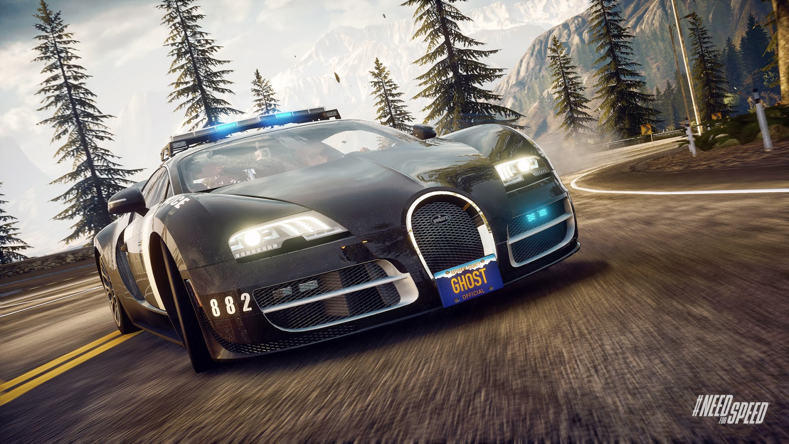 freewall need for speed rivals bugatti cop car wallpapers