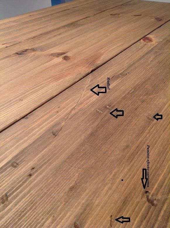efecto desgastado de madera