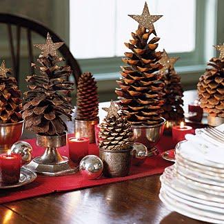 En la botica Viste tu casa de Navidad adornos y centros de mesa