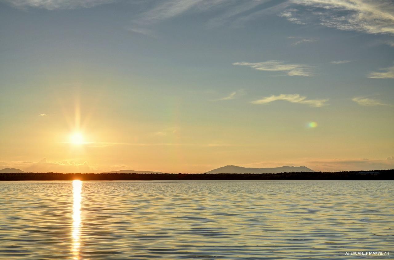 Озеро Котырколь. Казахстан. Закат.
