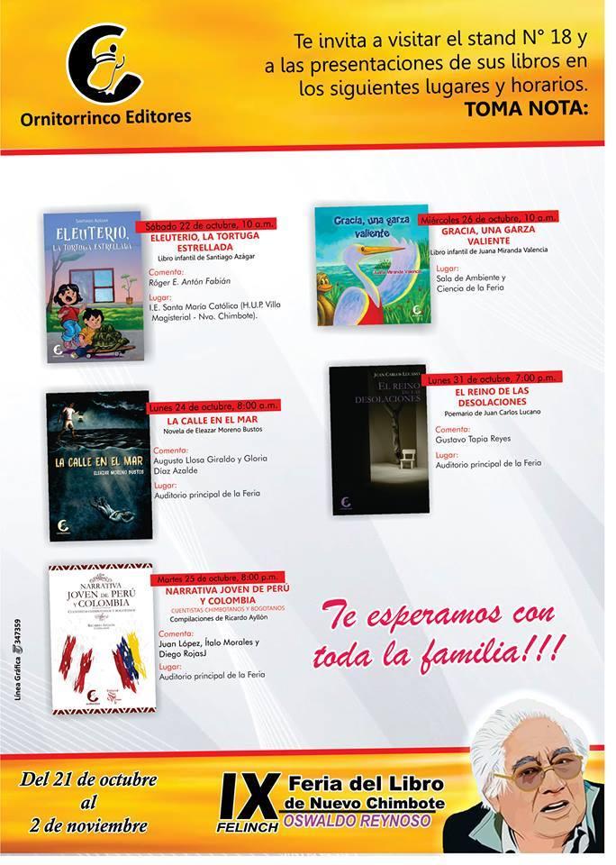 RECUERDO DE LA FERIA DE LIBROS DE NUEVO CHIMBOTE