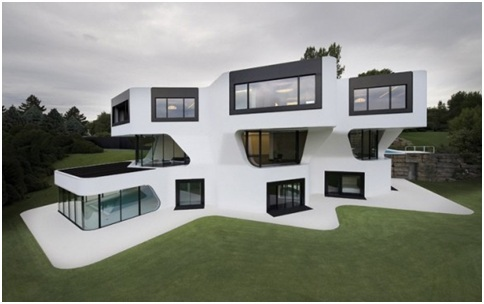MINIMALIST HOUSE FACADE Dupli.Casa by J. Mayer H. Architects