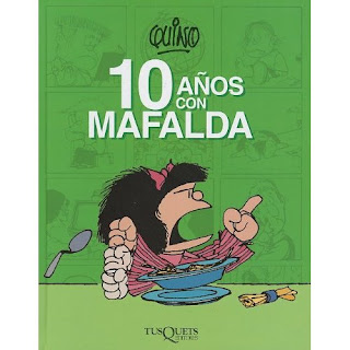 Cover of Mafalda comic strips book (10 Años con Mafalda)