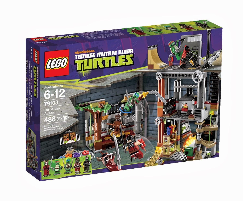 TOYS - LEGO Tortugas Ninja - 79103  Ataque a la Guarida de las Tortugas  Juguete Oficial | LEGO Teenage Mutant Ninja Turtles  | A partir de 6 años
