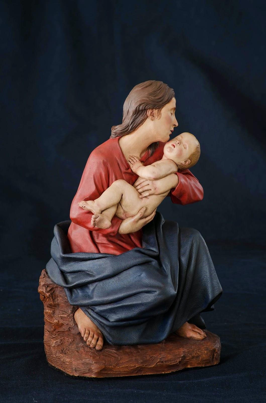 Nacimiento Belén Nativity presepe krippe Arturo Serra Barro cocido 27