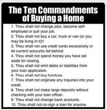 The 10 Commandments of Buying a Home