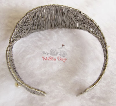 Woven Pearl Cuff/Bangle by WireBliss 2014