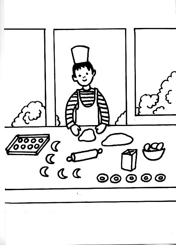Dibujo de panaderia para colorear - Imagui