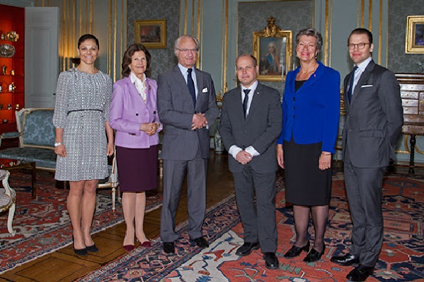 King Carl Gustaf and Queen Silvia, Crown Princess Victoria and Prince Daniel held a lunch at the Royal Palace for Ministers Ylva Johansson and Morgan Johansson