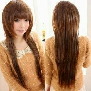 Model Potongan Gaya Rambut Wanita Panjang