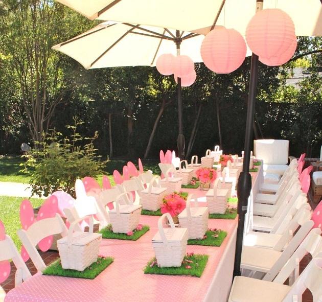 El blog de pequeregalo una fiesta en rosa y verde - Decoracion fiesta rosa ...