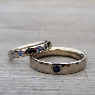 sapphire wedding bands