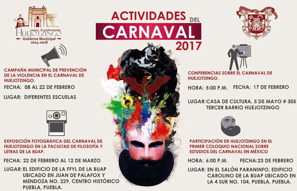 Programa del Carnaval de Huejotzingo