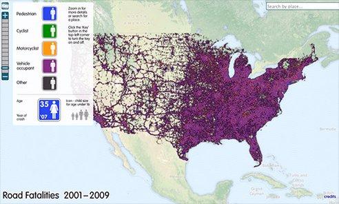 Ciudades A Escala Humana Examples Of Urban Data Visualization - Us traffic map