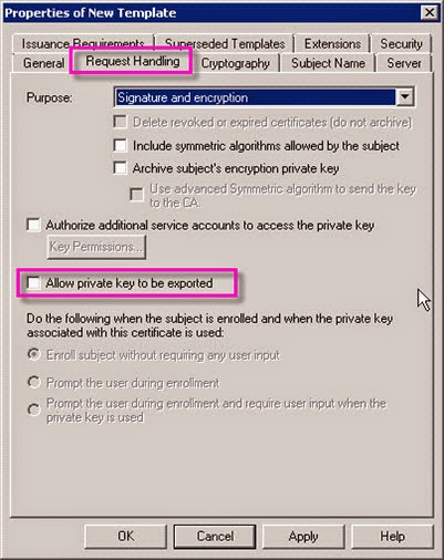 Mihos it journal allow private key to be exported extension select application policies click edit add server certification yelopaper Choice Image