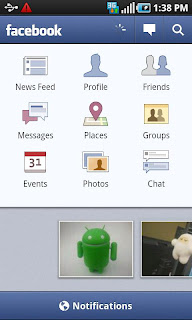 Facebook for Android 1.7.2 Apk Update Status via Android