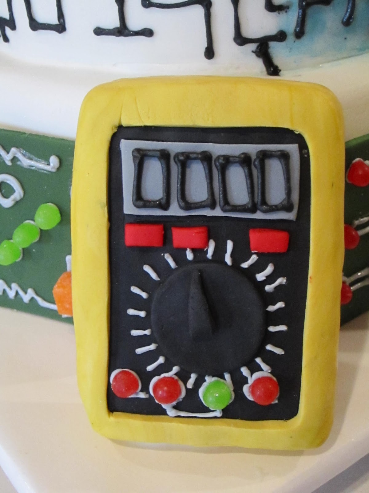 Frosted Insanity Electrical Engineer Cake