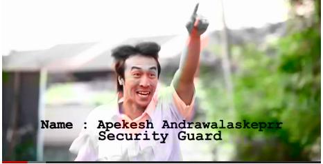 Khairul Fahmi Apek Jadi Pengawal Keselamatan (Pak Guard) Warga Nepal