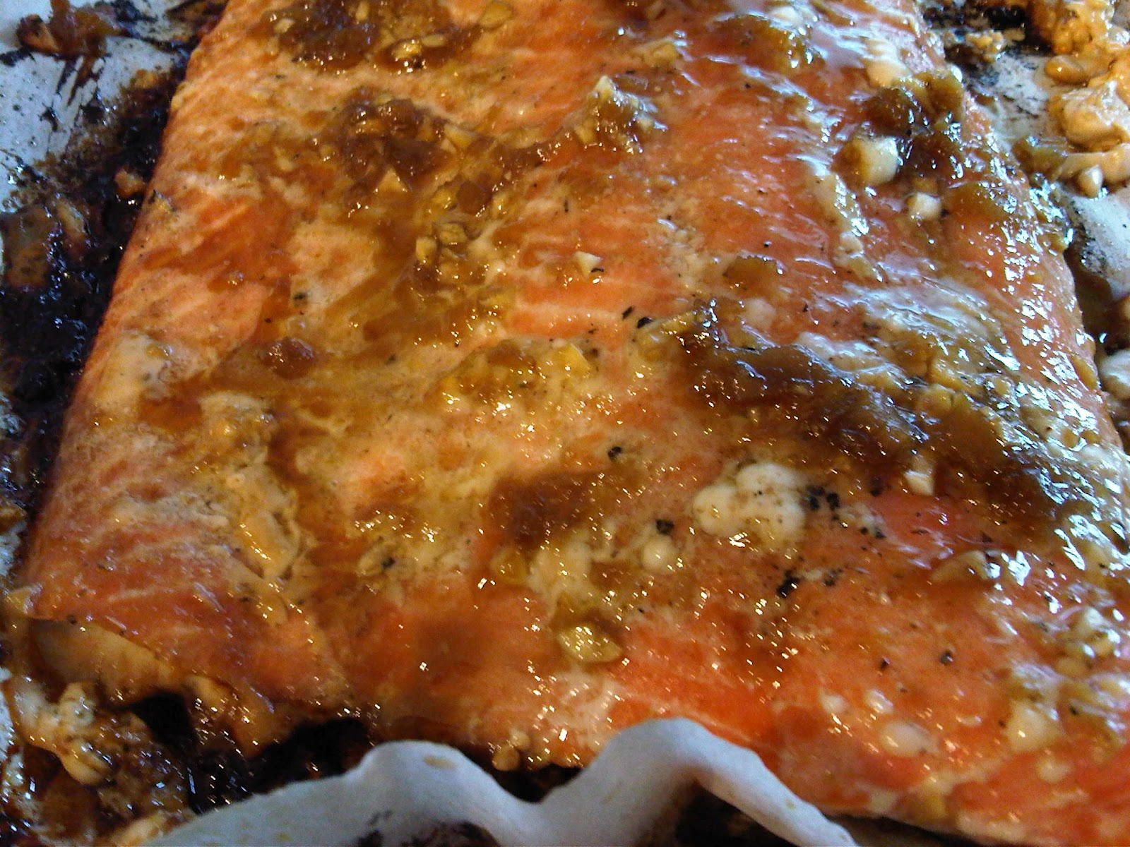 Honey-Ginger Grilled Salmon Recipe — Dishmaps