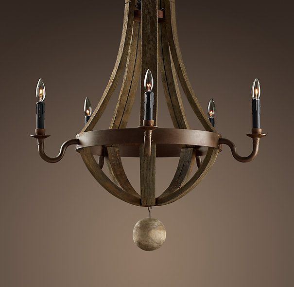 Restoration Hardware Discontinued Lighting: Wood Chandeliers And Rope Chandeliers