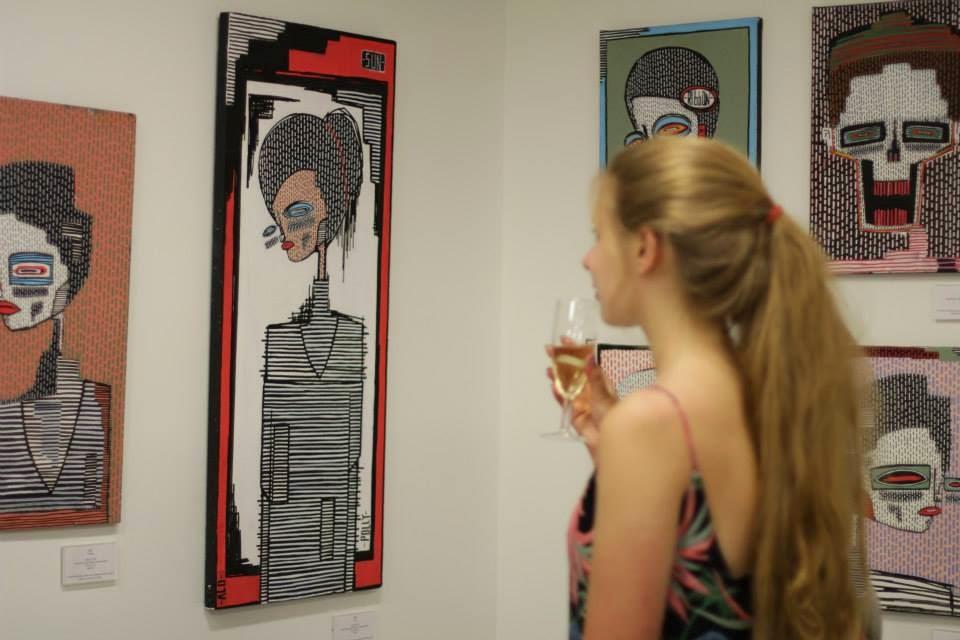 saatchi gallery alo solo show