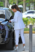 Kim Kardashian getting ready to fill up her Rolls