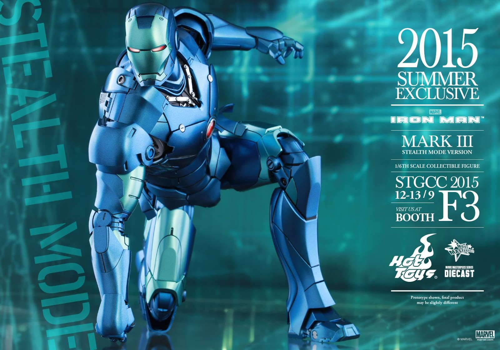 Hot Toys Iron Man Mark III Stealth Mode Version