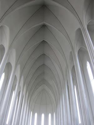 Hallgrimskirkja Interior in Reykjavik, Iceland