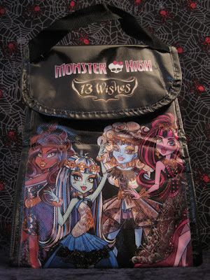 The Monster High: 13 Wishes lunch bag sold exclusively with the Walmart gift set. (front)