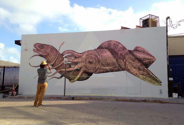 Street Art By Puerto Rican Artist Alexis Diaz In Miami USA for Art Basel 2013. 1