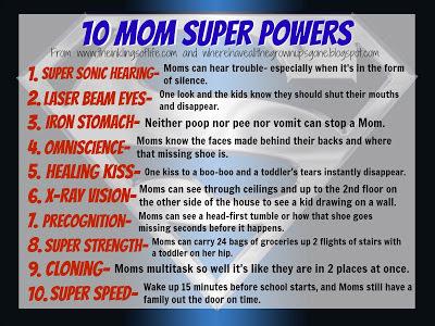10 Mom Super Powers