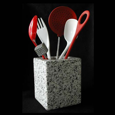 stone utensil holder