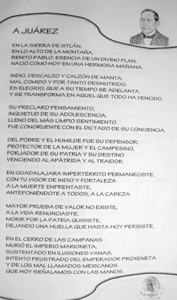 19 marzo natalicio don benito juarez: