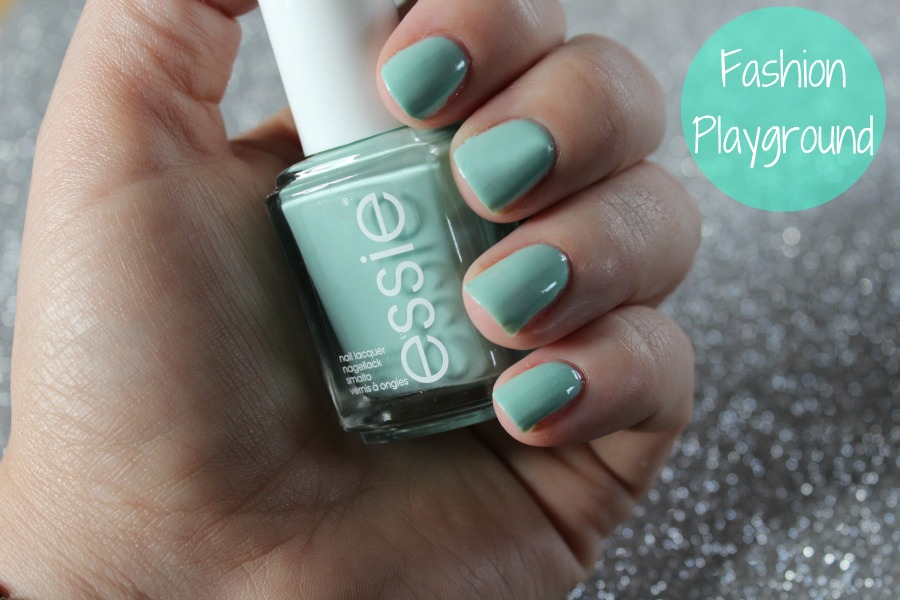 Essie Fashion Playground Swatch, Spring 2014, Hide & Go Chic Collection, Pistachio Nails
