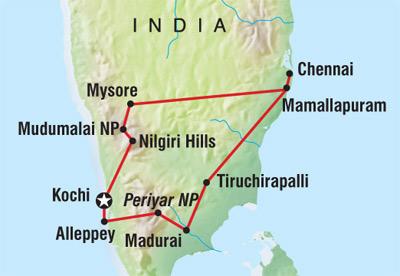 Tour Of Nilgiris Route