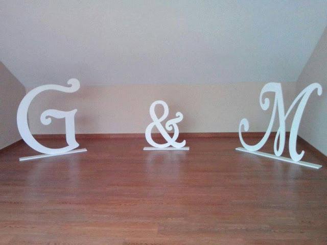 letras madera boda