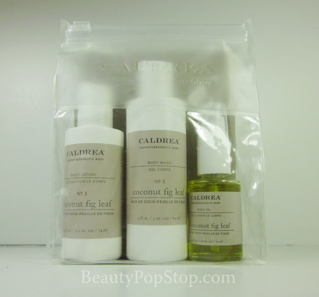 caldrea little luxuries set coconut fig leaf bath products