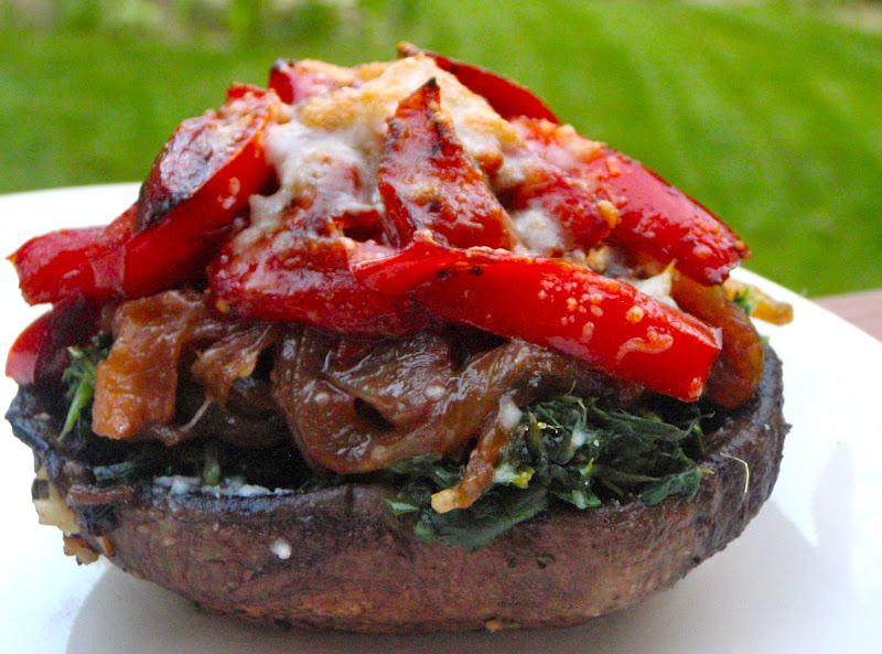 Once Upon A Plate...: Veggie Stuffed Portobello Mushrooms
