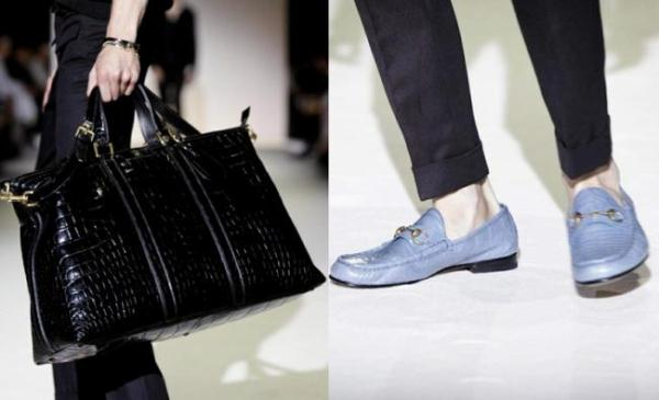 Gucci Spring-Summer 2013 men's shoes and handbags