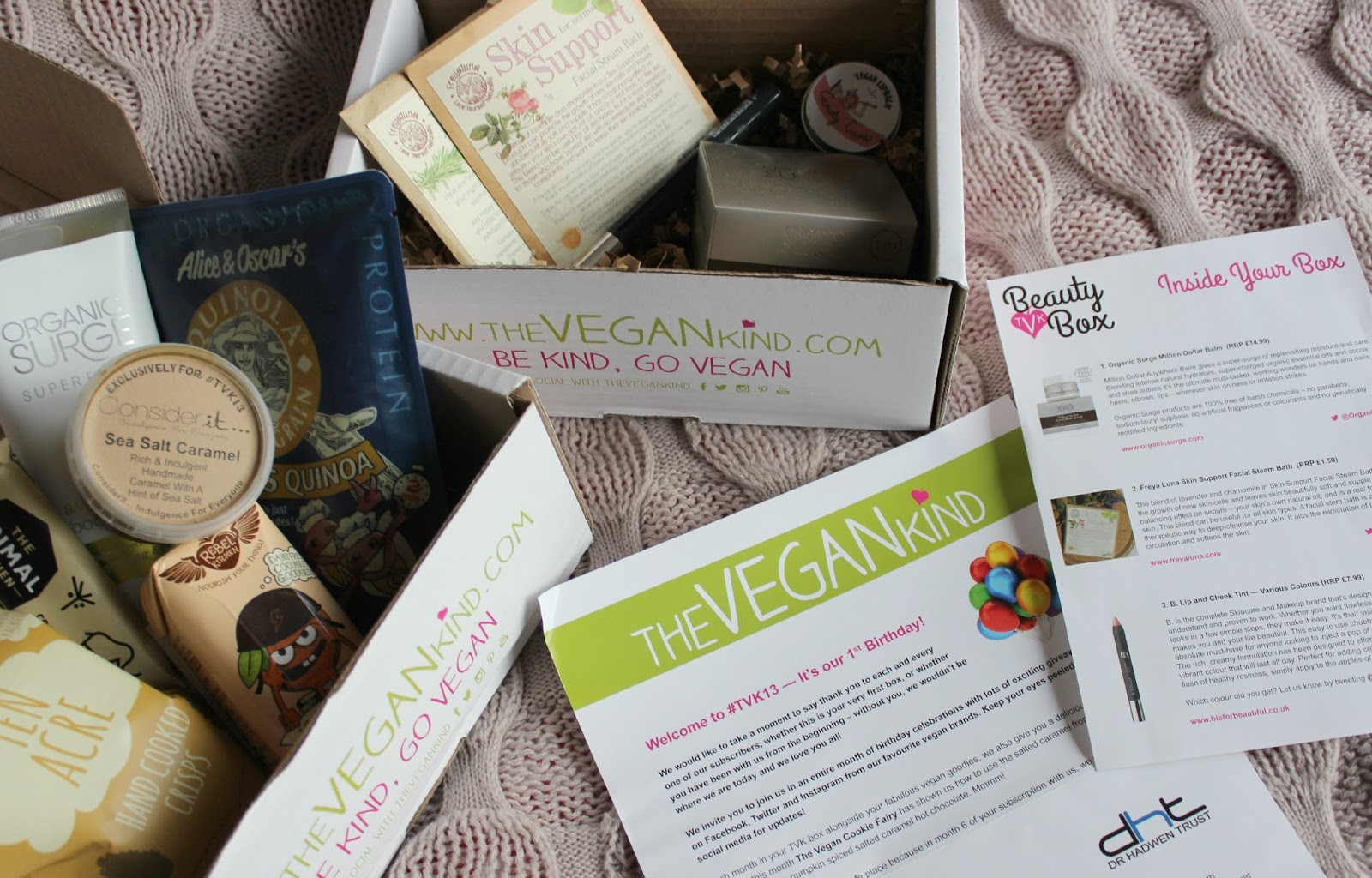 A picture of The Vegan Kind November Beauty Boxes