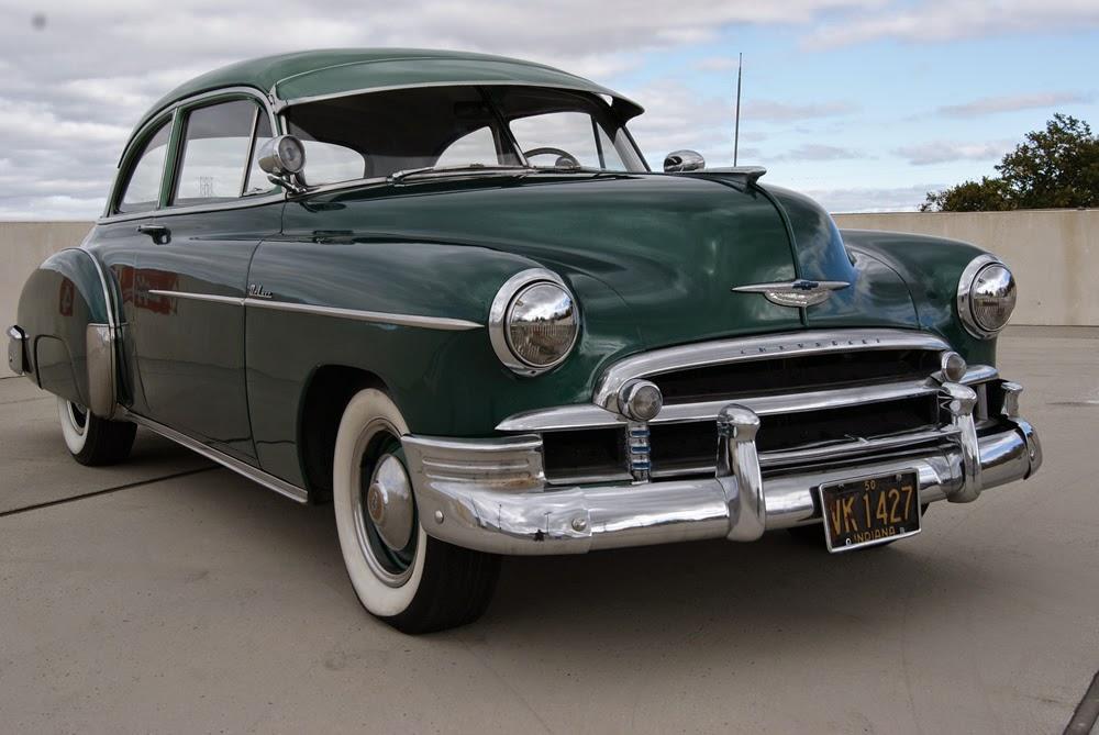 All american classic cars 1950 chevrolet deluxe styleline for 1949 chevy 4 door sedan
