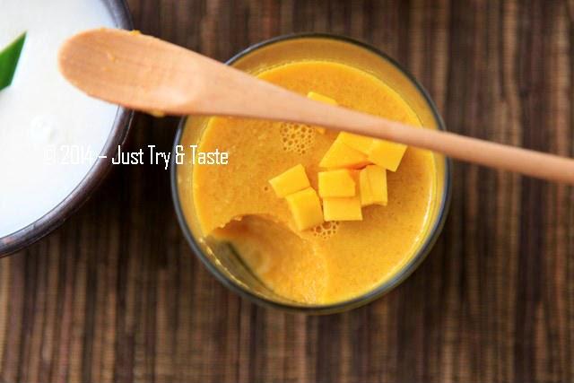 Puding Mangga Nan Simple dengan Vla Susu