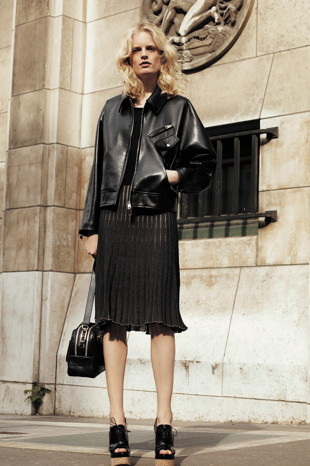 hanne gaby odiele for sonia rykiel resort 2014 visual optimism fashion editorials shows. Black Bedroom Furniture Sets. Home Design Ideas