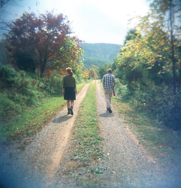 Ariel & Sebastian walking the trails at Buckeye Ranch, Turkey Scratch
