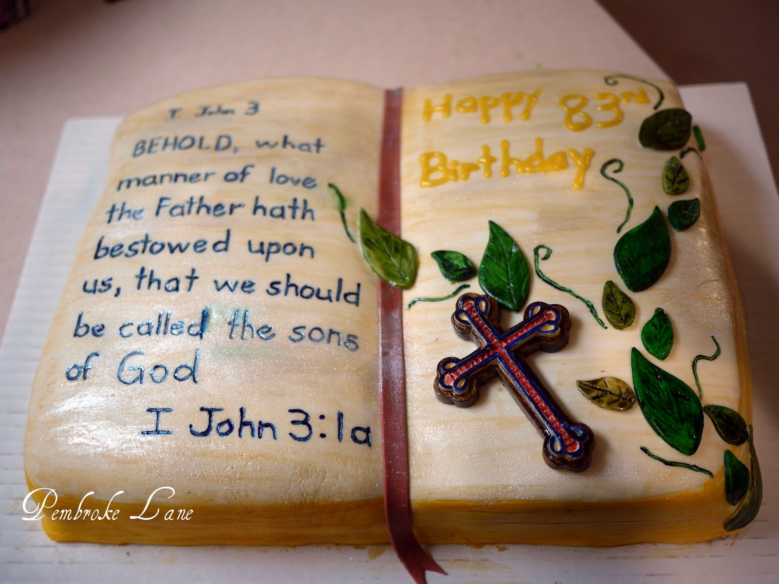 Pembroke Lane Bible Cake For Pastors Birthday
