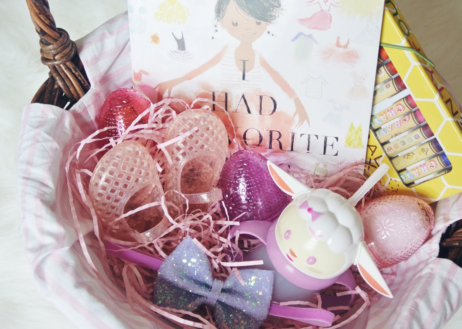 Easter basket goodies garvinandco i always love putting a book in her basket this year i chose i had a favorite dress which is so fitting because she has been playing dress up every day negle Choice Image